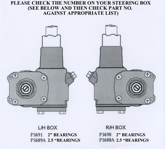 Marles Steering Box Parts